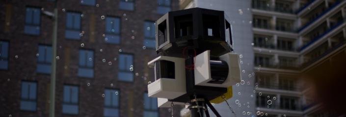 Freiheit statt Angst: Überwachungskameras und Seifenblasen