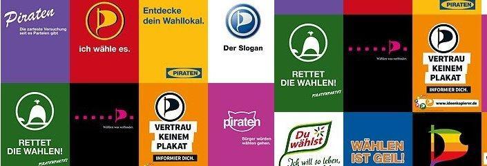 Die Ideenkopierer-Plakate aus dem Wahlkampf der Piratenpartei zur #nds13