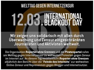 Welttag gegen Internetzensur am 12.03.2013