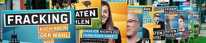 Wahlplakate zur BTW13, CC-BY Piratenpartei Schleswig-Holstein