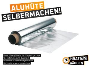 Aluhüte selbermachen! (CC-BY-SA 3.0 Piratenpartei Deutschland)