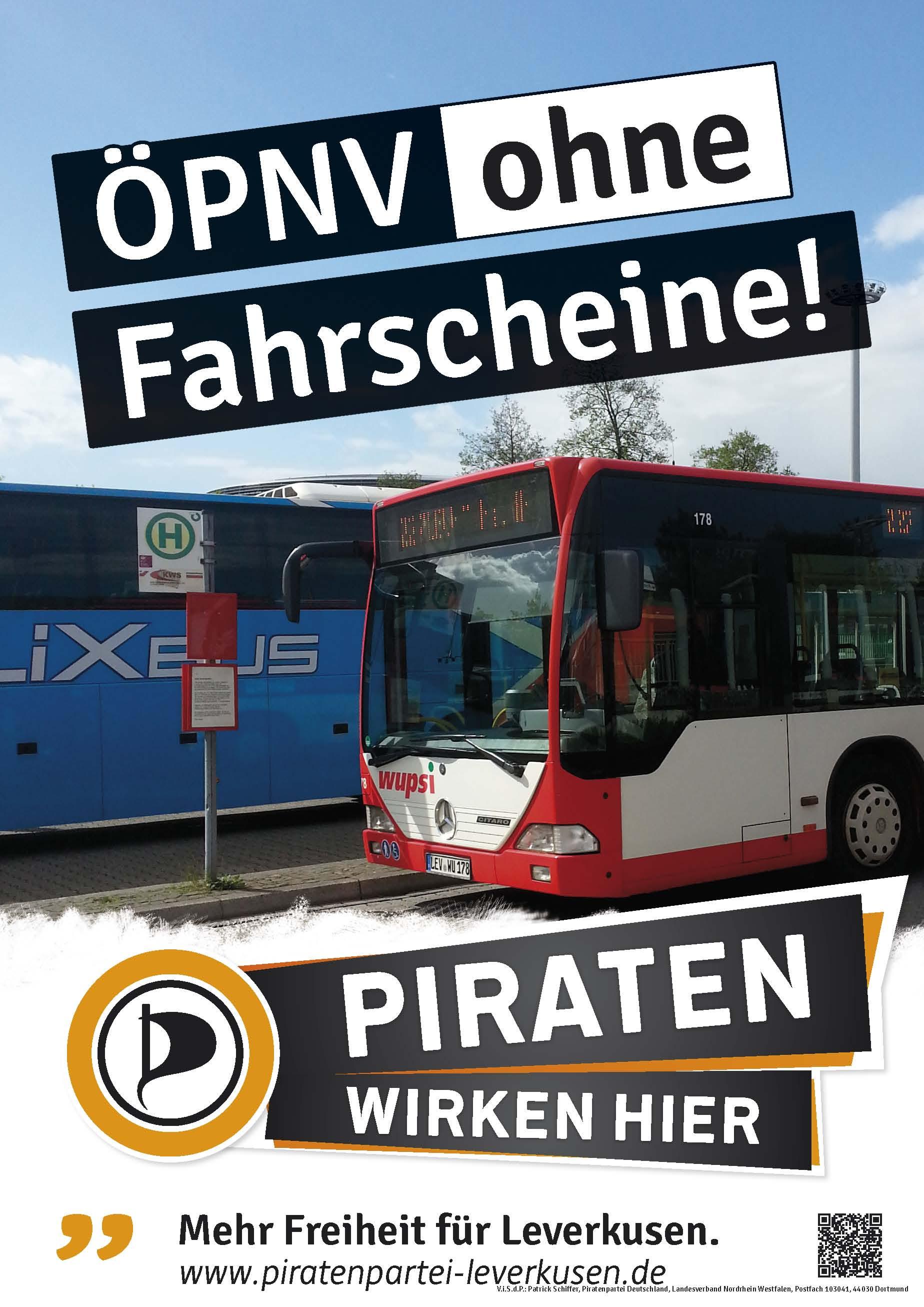 Thematisch passendes Wahlplakat aus Leverkusen.