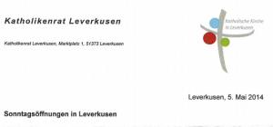 Brief vom Katholikenrat Leverkusen