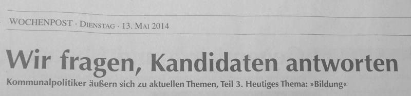 Wochenpost 20/2014