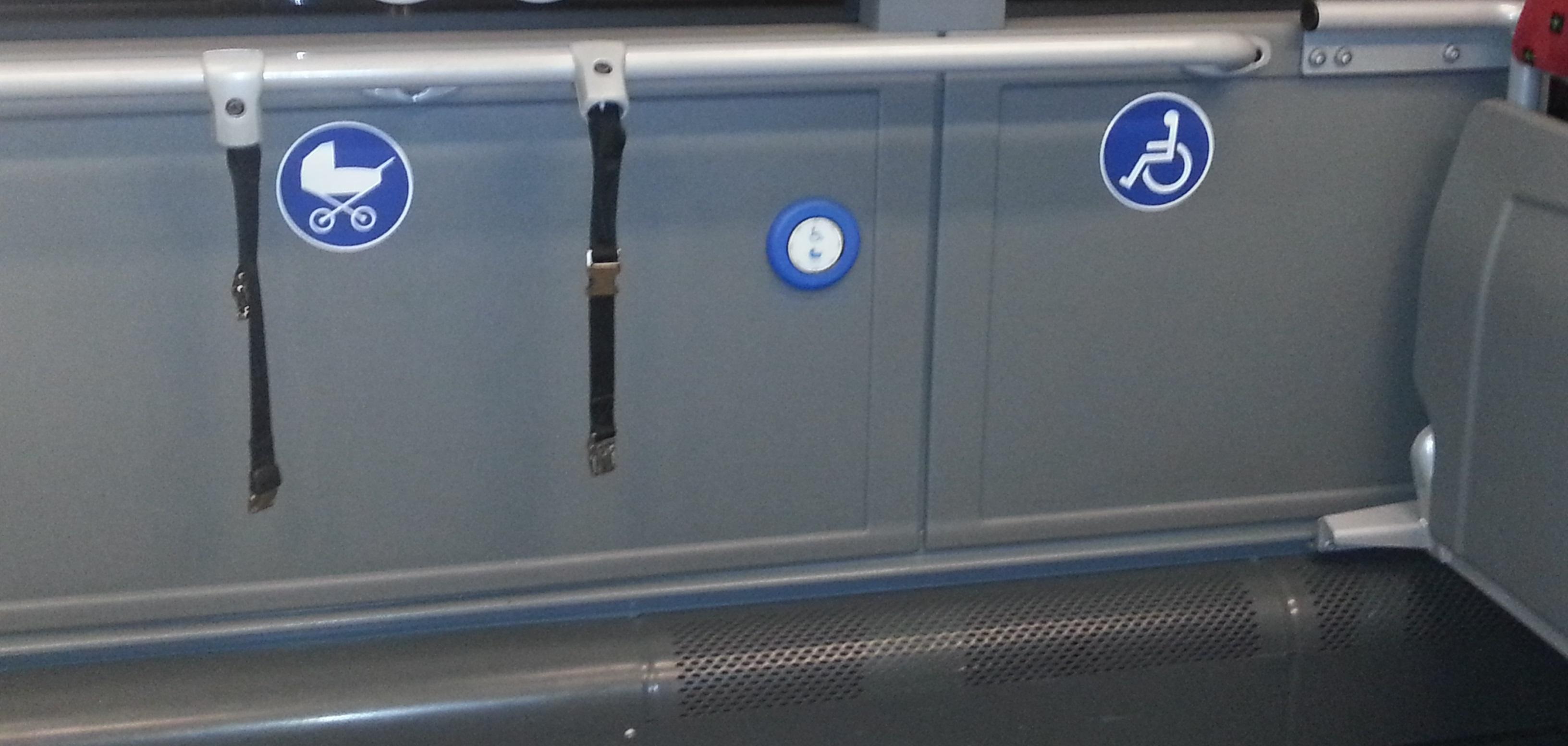 der freie Raum im Bus