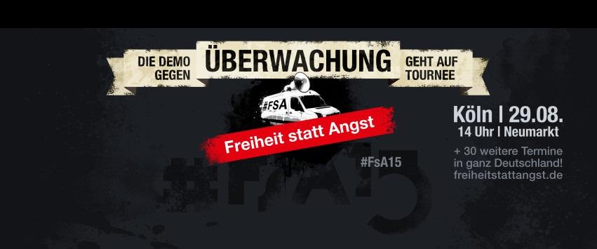 Freiheit statt Angst '15 in Köln