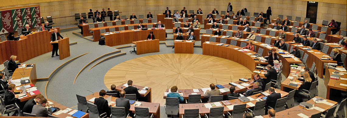 Plenum im Landtag NRW; Foto: Anke Knipschild