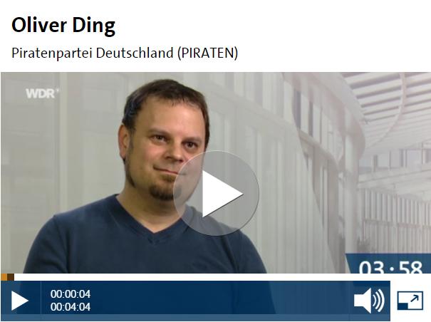 Oliver Ding beim WDR-Kandidatencheck