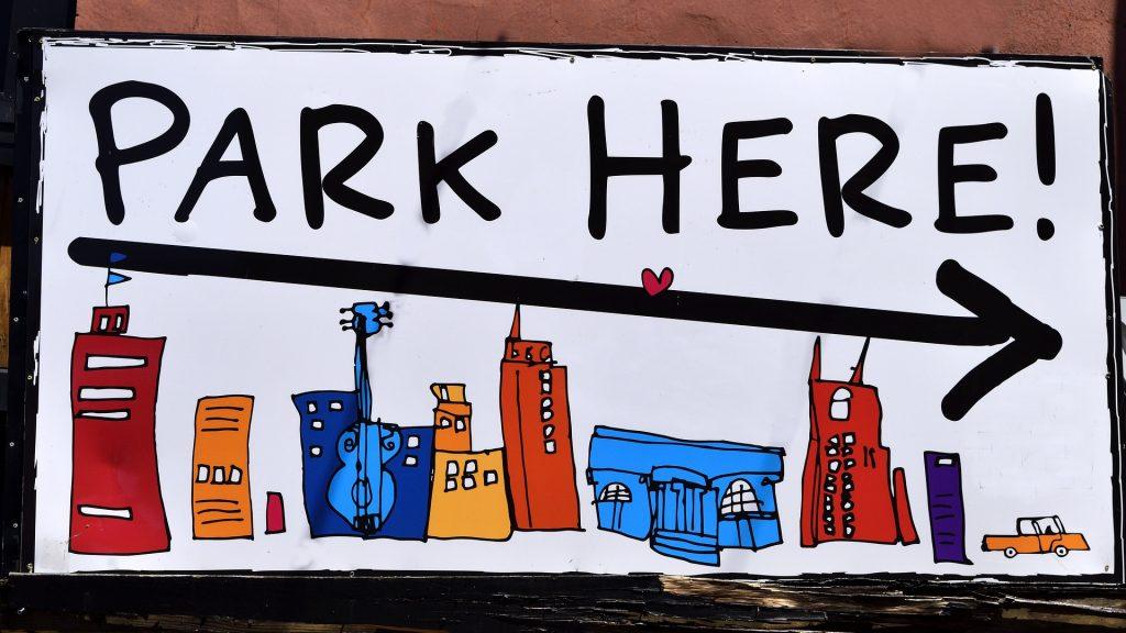 Park here! Parken erlaubt