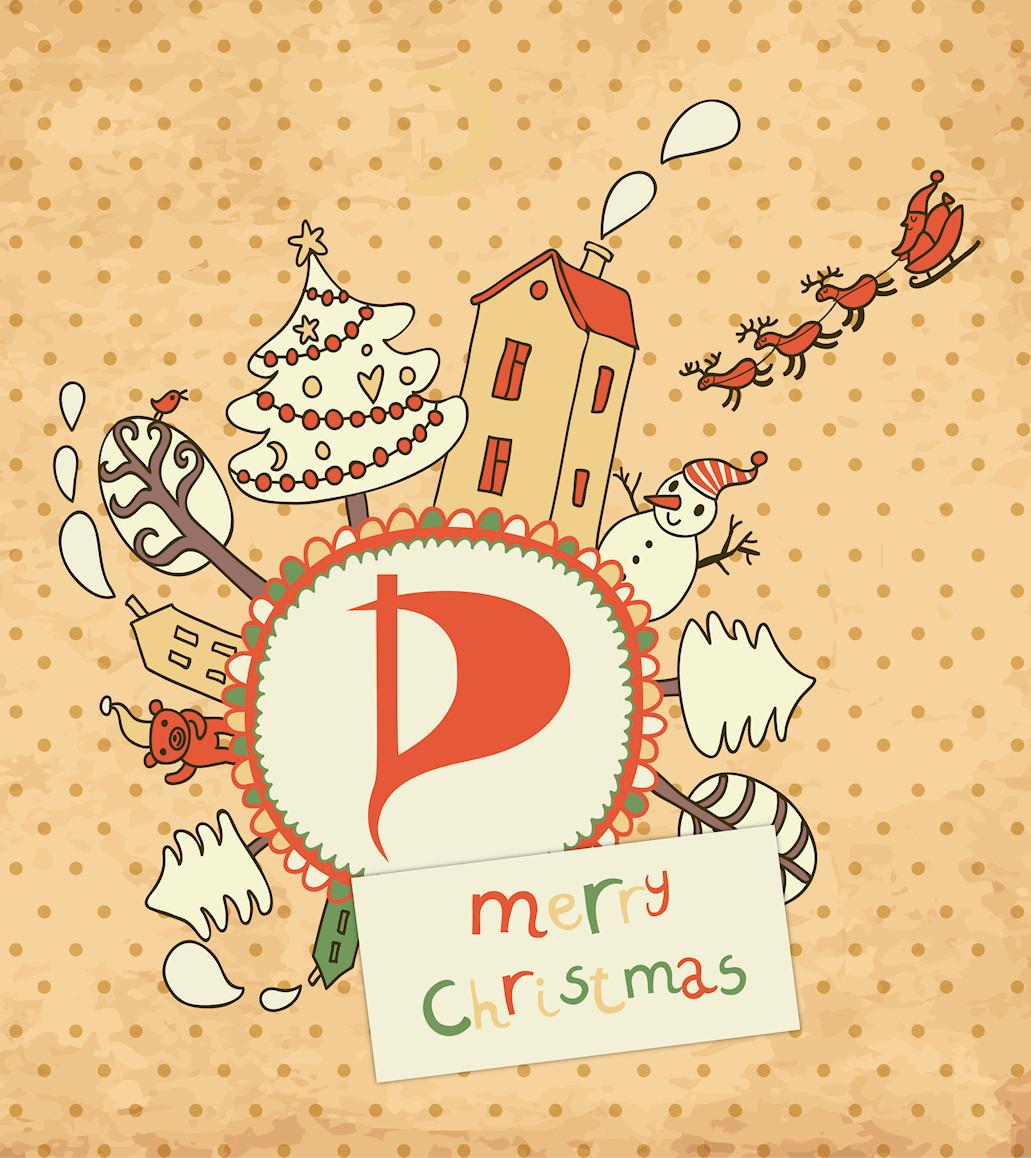 Merry Christmas - Piratige Weihnachtsgrüße