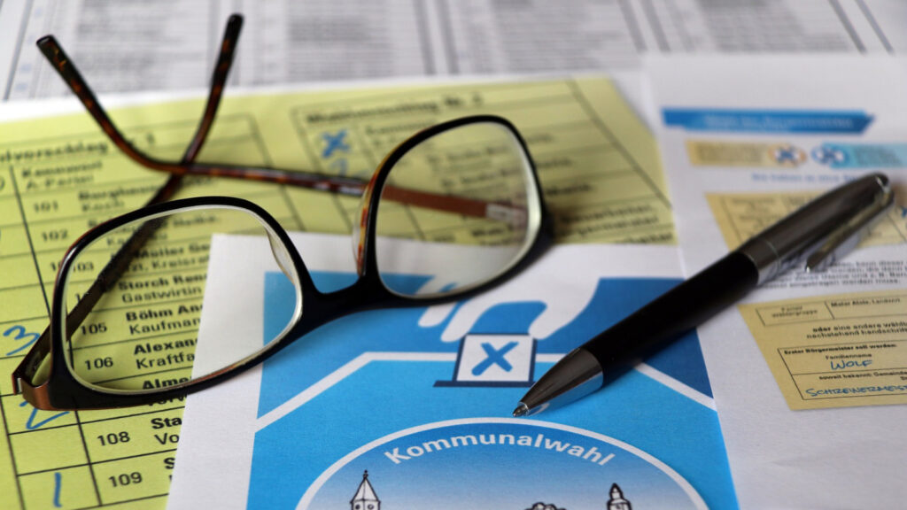 Unterlagen zu einer Kommunalwahl